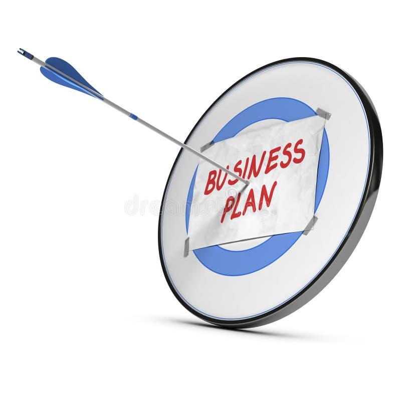 Επιχειρηματικό σχέδιο - έννοια στόχων απεικόνιση αποθεμάτων