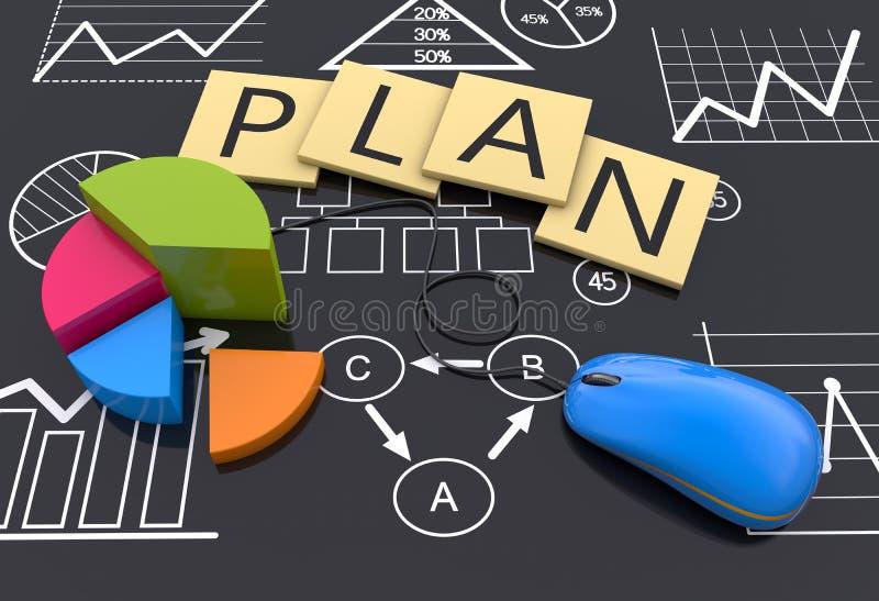 Επιχειρηματικό σχέδιο διανυσματική απεικόνιση