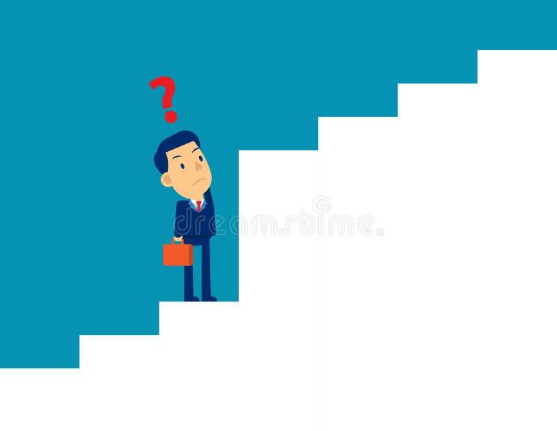 Επιχειρηματικό όραμα και επιχειρηματίας στρατηγικής Έννοια χαριτωμένη απεικόνιση επιχειρηματικού φορέα, πρόκληση διανυσματική απεικόνιση