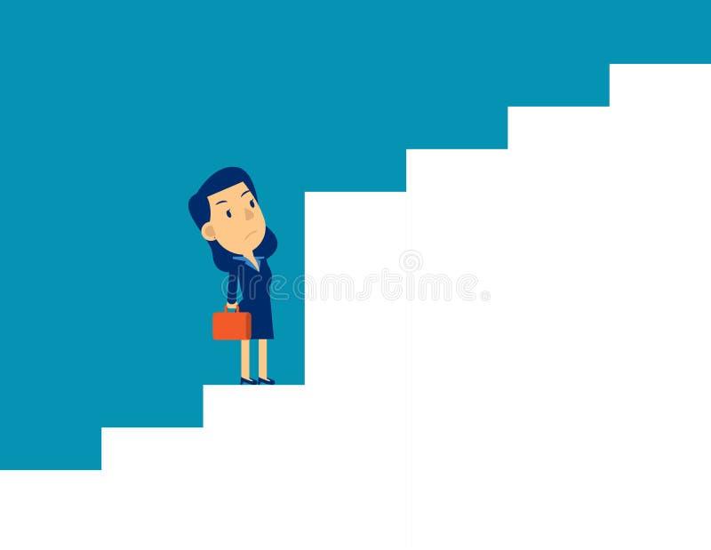 Επιχειρηματικό όραμα και επιχειρηματίας στρατηγικής Έννοια χαριτωμένη απεικόνιση επιχειρηματικού φορέα, πρόκληση απεικόνιση αποθεμάτων