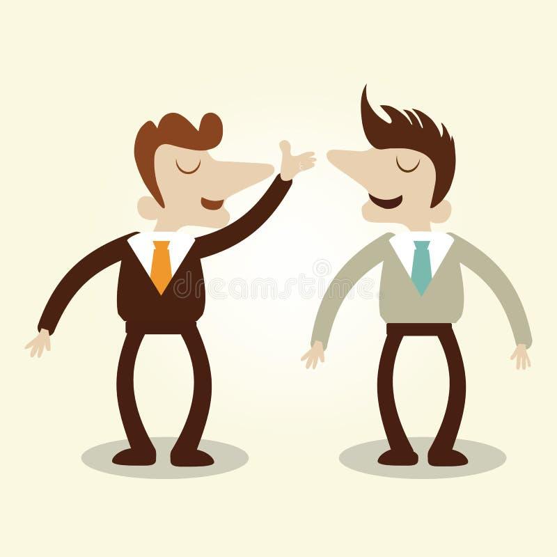Επιχειρησιακά άτομα που μιλούν τη συνομιλία διανυσματική απεικόνιση