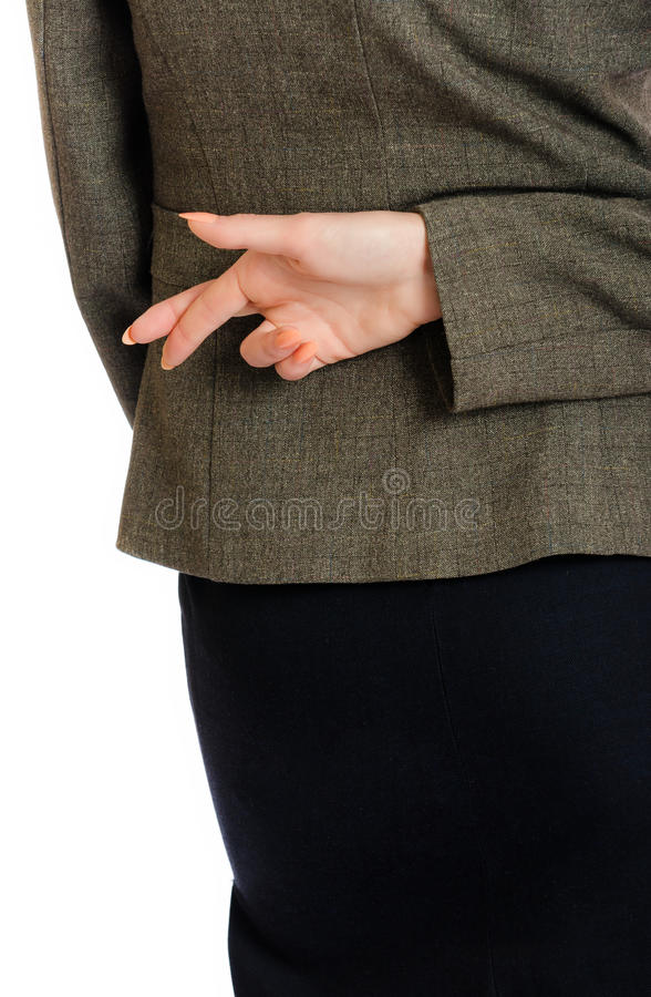 Επιχειρησιακά διασχισμένα γυναίκα δάχτυλα στοκ φωτογραφία με δικαίωμα ελεύθερης χρήσης