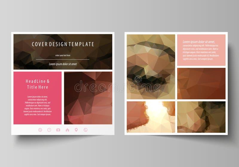 Επιχειρησιακά πρότυπα για το τετραγωνικό φυλλάδιο σχεδίου, περιοδικό, ιπτάμενο, βιβλιάριο Κάλυψη φυλλάδιων, αφηρημένο διανυσματικ ελεύθερη απεικόνιση δικαιώματος