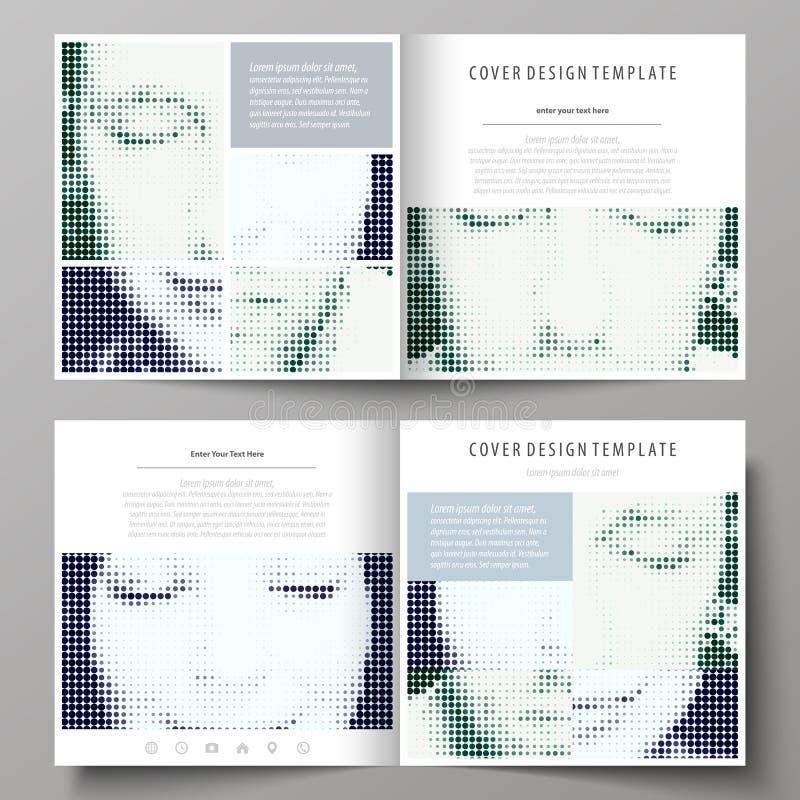 Επιχειρησιακά πρότυπα για το τετραγωνικό φυλλάδιο πτυχών βισμουθίου σχεδίου, περιοδικό, ιπτάμενο Κάλυψη φυλλάδιων, αφηρημένο διαν διανυσματική απεικόνιση