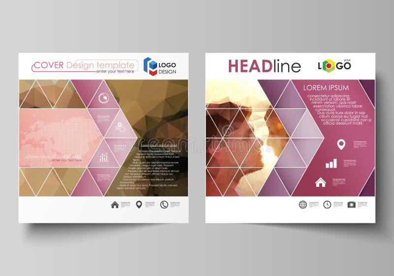 Επιχειρησιακά πρότυπα για το τετραγωνικό φυλλάδιο σχεδίου, περιοδικό, ιπτάμενο, βιβλιάριο Κάλυψη φυλλάδιων, αφηρημένο διανυσματικ απεικόνιση αποθεμάτων