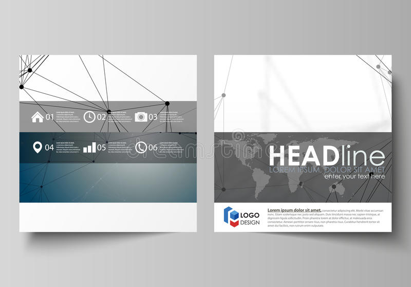 Επιχειρησιακά πρότυπα για το τετραγωνικό φυλλάδιο σχεδίου, περιοδικό, ιπτάμενο, βιβλιάριο Κάλυψη φυλλάδιων, διανυσματικό σχεδιάγρ ελεύθερη απεικόνιση δικαιώματος