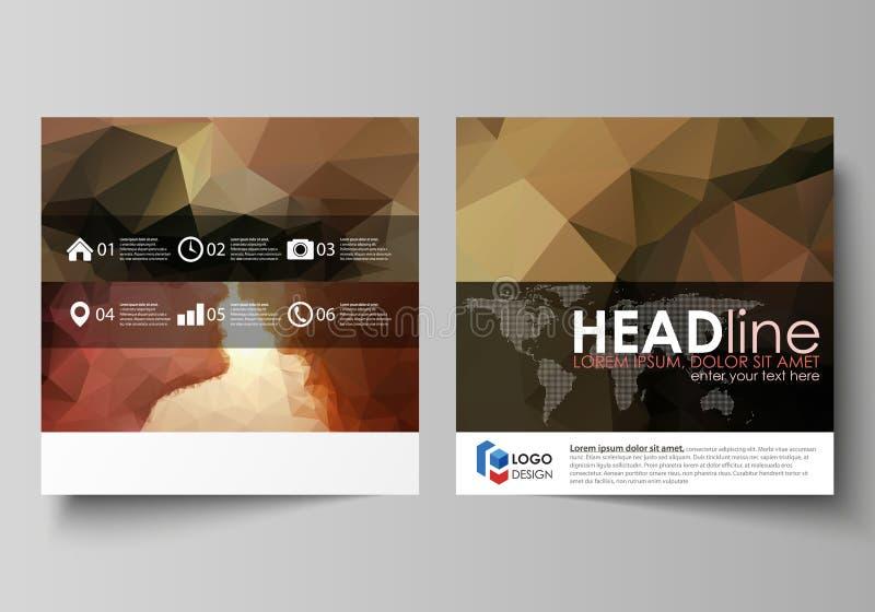 Επιχειρησιακά πρότυπα για το τετραγωνικό φυλλάδιο σχεδίου, περιοδικό, ιπτάμενο, βιβλιάριο Κάλυψη φυλλάδιων, αφηρημένο διανυσματικ διανυσματική απεικόνιση