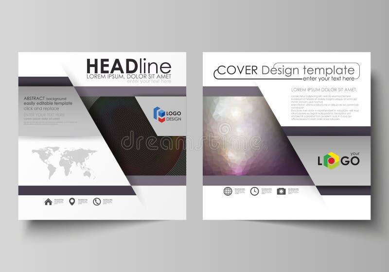 Επιχειρησιακά πρότυπα για το τετραγωνικό φυλλάδιο, το περιοδικό, το ιπτάμενο, το βιβλιάριο ή την έκθεση σχεδίου Κάλυψη φυλλάδιων, απεικόνιση αποθεμάτων