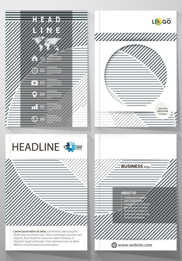 Επιχειρησιακά πρότυπα για το φυλλάδιο, ιπτάμενο, έκθεση Πρότυπο σχεδίου κάλυψης, αφηρημένο διανυσματικό σχεδιάγραμμα A4 στο μέγεθ ελεύθερη απεικόνιση δικαιώματος