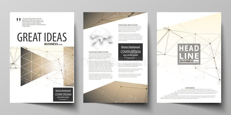 Επιχειρησιακά πρότυπα για το φυλλάδιο, ιπτάμενο, βιβλιάριο, έκθεση Πρότυπο σχεδίου κάλυψης, διανυσματικό σχεδιάγραμμα A4 στο μέγε ελεύθερη απεικόνιση δικαιώματος
