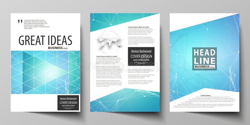 Επιχειρησιακά πρότυπα για το φυλλάδιο, περιοδικό, ιπτάμενο, βιβλιάριο, έκθεση Πρότυπο σχεδίου κάλυψης, διανυσματικό σχεδιάγραμμα  διανυσματική απεικόνιση