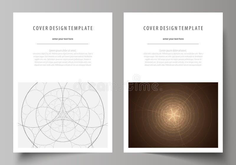 Επιχειρησιακά πρότυπα για το φυλλάδιο, ιπτάμενο, βιβλιάριο Πρότυπο σχεδίου κάλυψης, αφηρημένο διανυσματικό σχεδιάγραμμα A4 στο μέ ελεύθερη απεικόνιση δικαιώματος