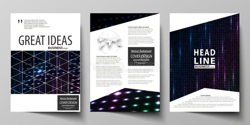 Επιχειρησιακά πρότυπα για το φυλλάδιο, περιοδικό, ιπτάμενο, βιβλιάριο Πρότυπο κάλυψης, σχεδιάγραμμα με A4 το σχήμα Αφηρημένο ζωηρ ελεύθερη απεικόνιση δικαιώματος