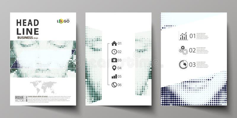 Επιχειρησιακά πρότυπα για το φυλλάδιο, περιοδικό, ιπτάμενο, βιβλιάριο Πρότυπο σχεδίου κάλυψης, αφηρημένο σχεδιάγραμμα A4 στο μέγε ελεύθερη απεικόνιση δικαιώματος