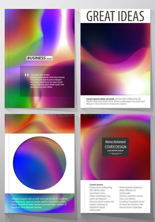 Επιχειρησιακά πρότυπα για το φυλλάδιο, το περιοδικό, το ιπτάμενο, το βιβλιάριο ή τη ετήσια έκθεση Πρότυπο κάλυψης, επίπεδο διανυσ ελεύθερη απεικόνιση δικαιώματος