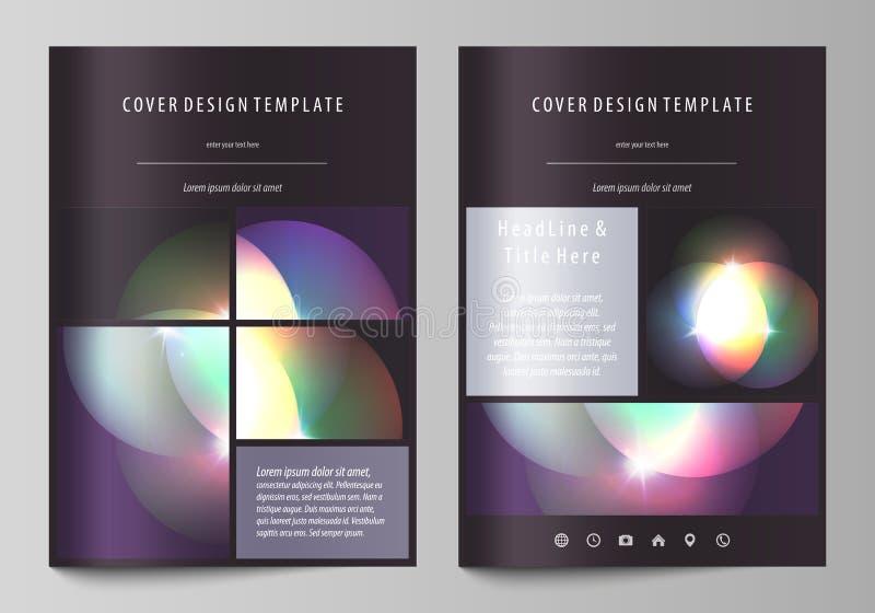 Επιχειρησιακά πρότυπα για το φυλλάδιο, το περιοδικό, το ιπτάμενο, το βιβλιάριο ή τη ετήσια έκθεση Πρότυπο κάλυψης, αφηρημένο διαν διανυσματική απεικόνιση