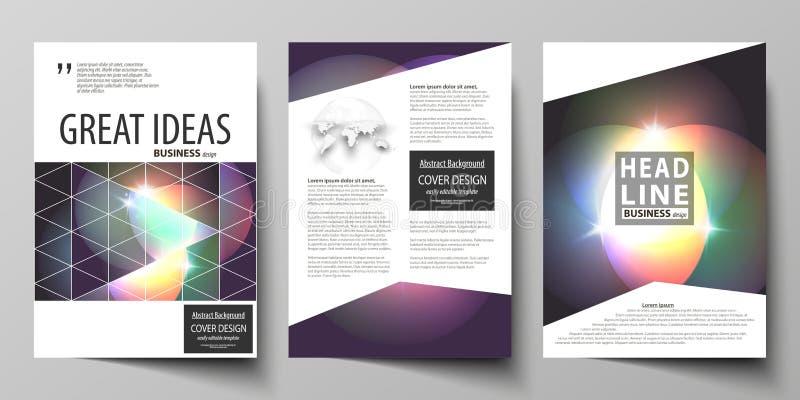 Επιχειρησιακά πρότυπα για το φυλλάδιο, το περιοδικό, το ιπτάμενο, το βιβλιάριο ή τη ετήσια έκθεση Πρότυπο κάλυψης, αφηρημένο διαν ελεύθερη απεικόνιση δικαιώματος