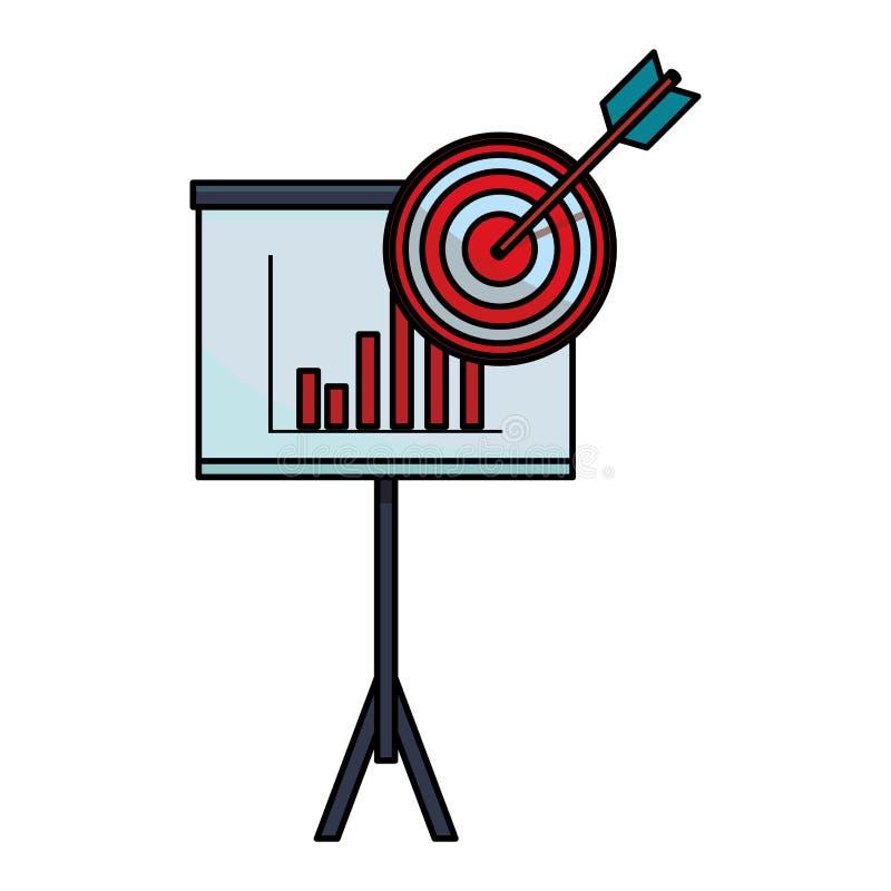 Επιχειρησιακές γραφικές παραστάσεις στο whiteboard με το στόχο ελεύθερη απεικόνιση δικαιώματος