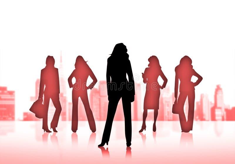 επιχειρησιακές γυναίκες διανυσματική απεικόνιση