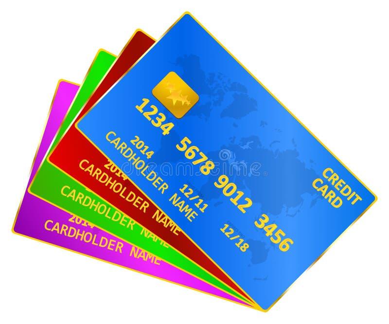 Επιχειρησιακές πιστωτικές κάρτες διανυσματική απεικόνιση