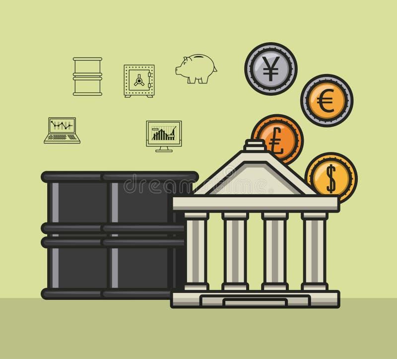 Επιχειρησιακές χρήματα και επενδύσεις απεικόνιση αποθεμάτων