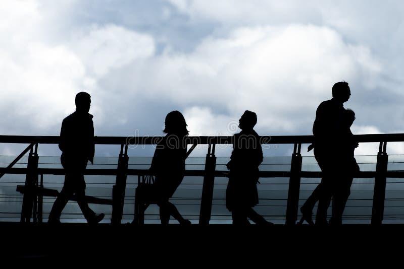 Επιχειρησιακή έννοια - άνθρωποι σε μια οικονομική περιοχή στοκ εικόνες με δικαίωμα ελεύθερης χρήσης