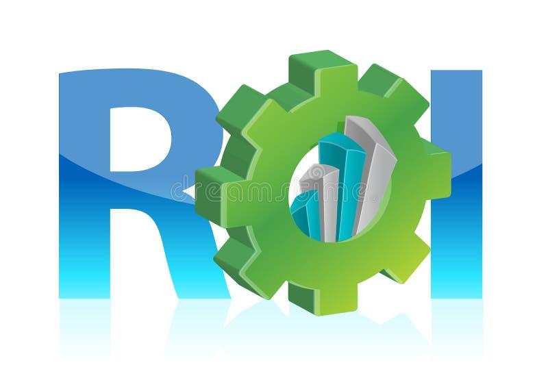 Επιχειρησιακή έννοια απόδοσης της επένδυσης απεικόνιση αποθεμάτων