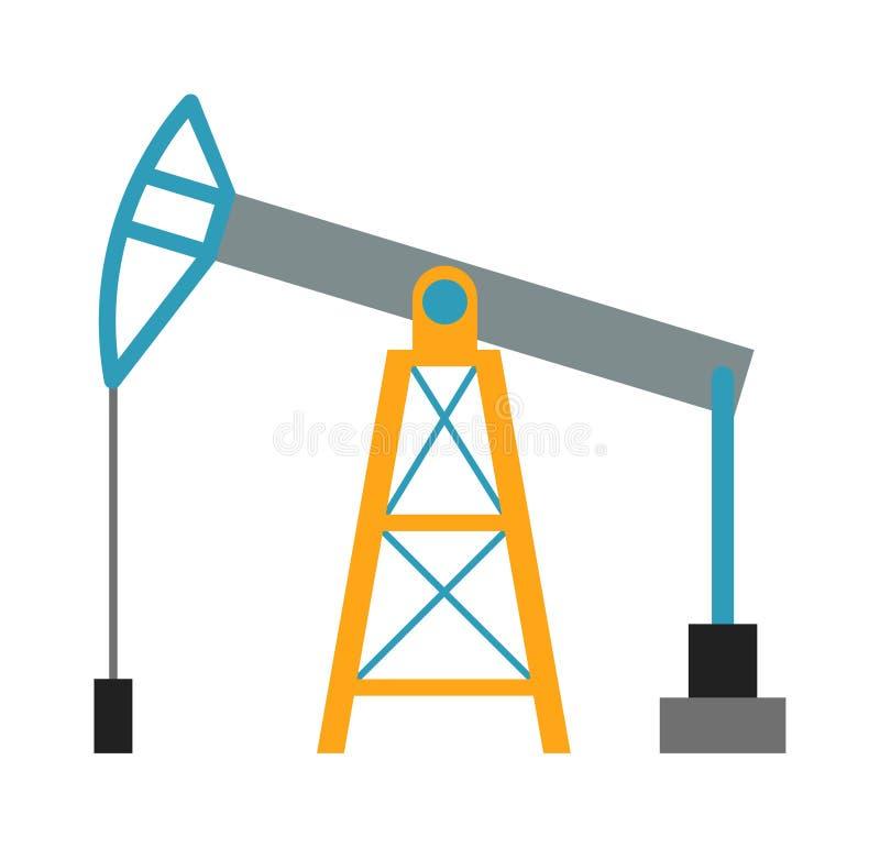 Επιχειρησιακή έννοια βιομηχανίας πλατφορμών άντλησης πετρελαίου της διανομής καυσίμων παραγωγής φορτωτήρων και της επίπεδης διανυ ελεύθερη απεικόνιση δικαιώματος