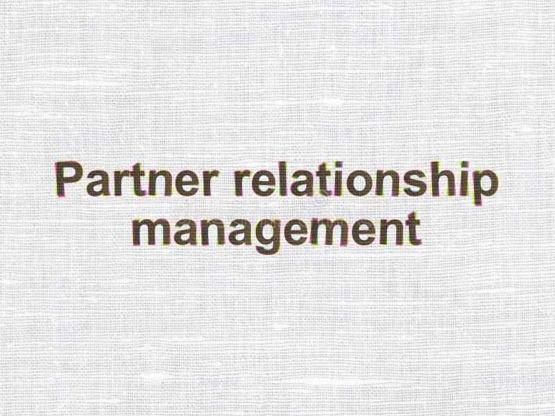 Επιχειρησιακή έννοια: Διαχείριση σχέσης εταίρων διανυσματική απεικόνιση
