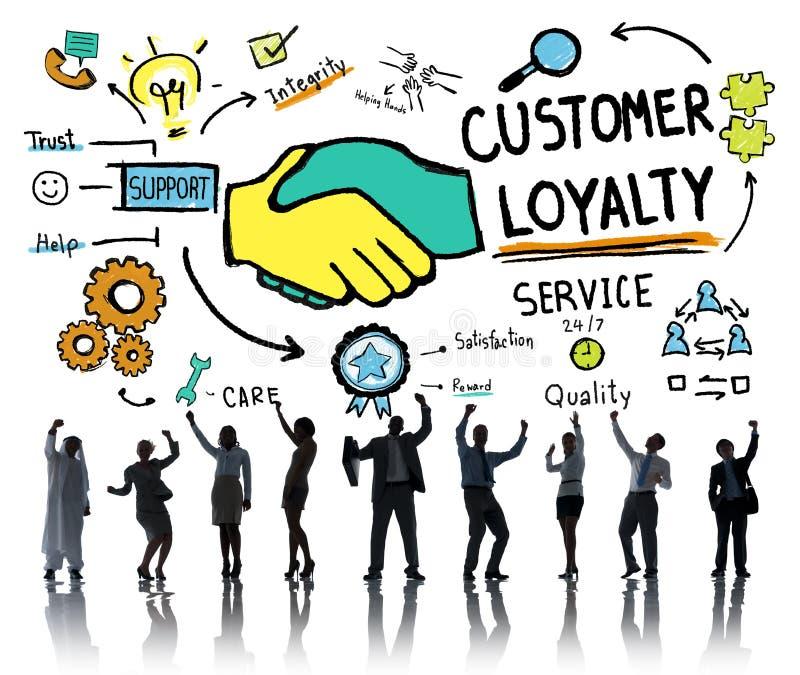 Επιχειρησιακή έννοια εμπιστοσύνης προσοχής υποστήριξης υπηρεσιών πίστης πελατών στοκ φωτογραφία