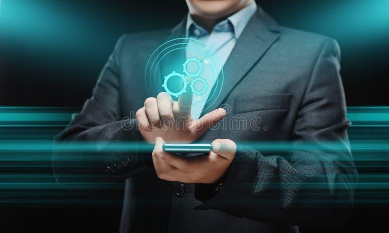 Επιχειρησιακή έννοια συστημάτων διαδικασίας τεχνολογίας λογισμικού αυτοματοποίησης στοκ εικόνα