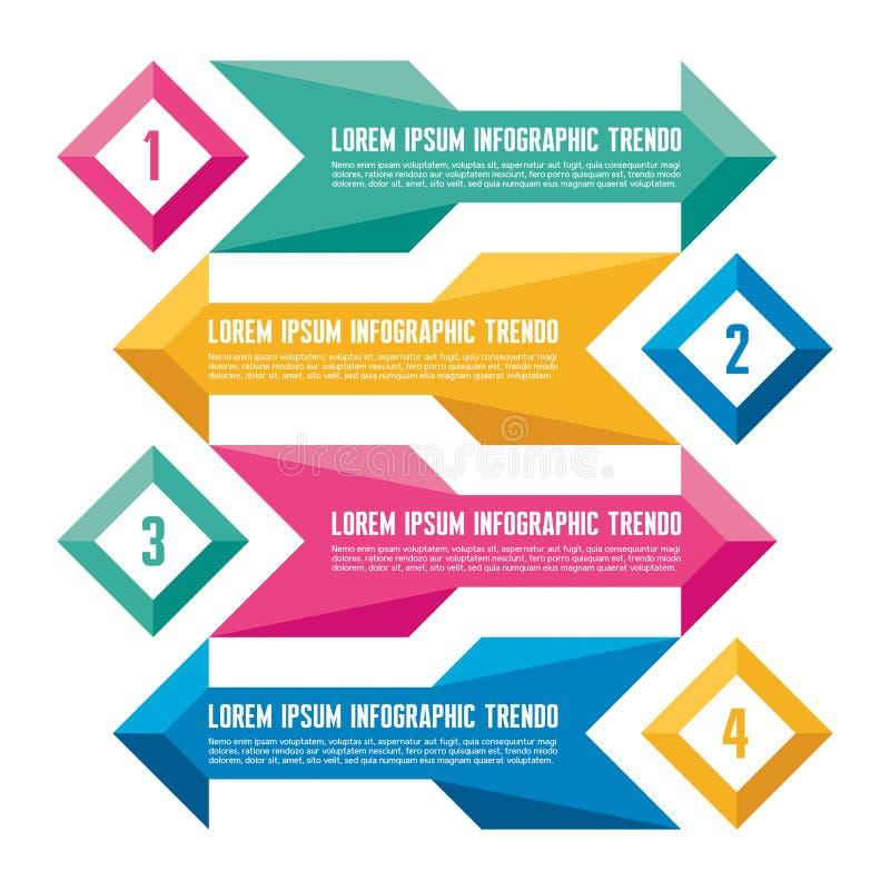 Επιχειρησιακή έννοια Infographic για την παρουσίαση - διανυσματικά εμβλήματα απεικόνιση αποθεμάτων