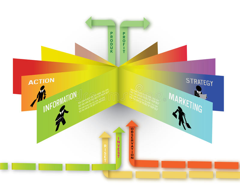 Επιχειρησιακή έννοια Infographic απεικόνιση αποθεμάτων