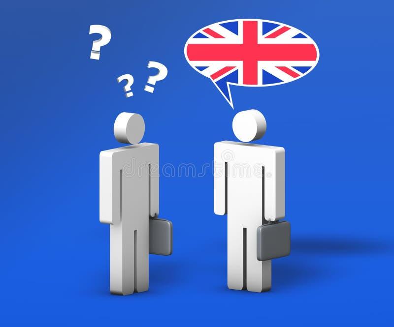 Επιχειρησιακή αγγλική συνομιλία διανυσματική απεικόνιση