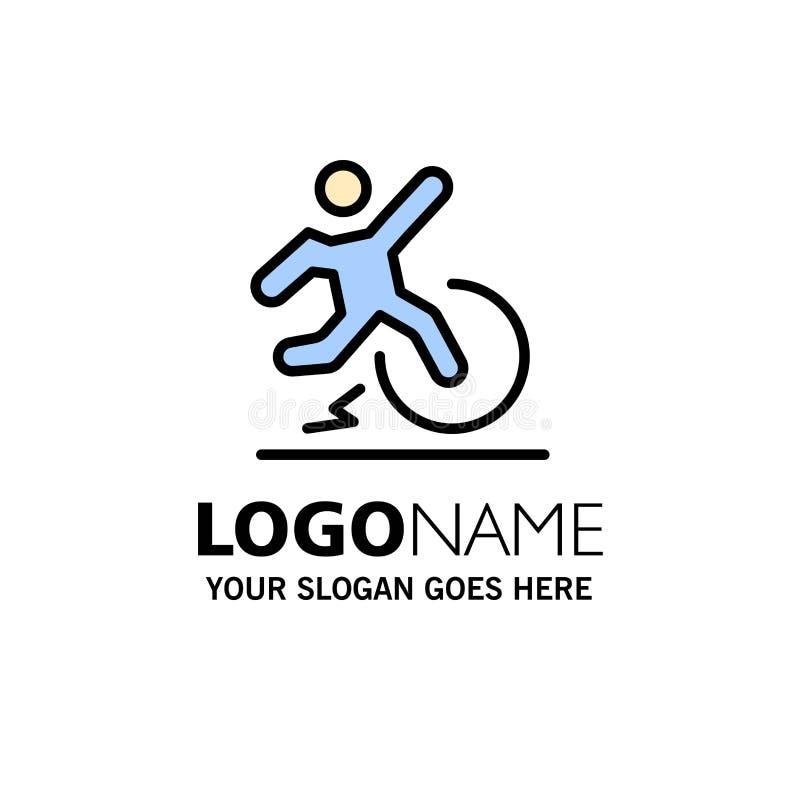 Επιχειρησιακή, αλλαγή, άνεση, διαφυγή, αφήστε πρότυπο λογότυπου επιχείρησης Επίπεδο χρώμα ελεύθερη απεικόνιση δικαιώματος