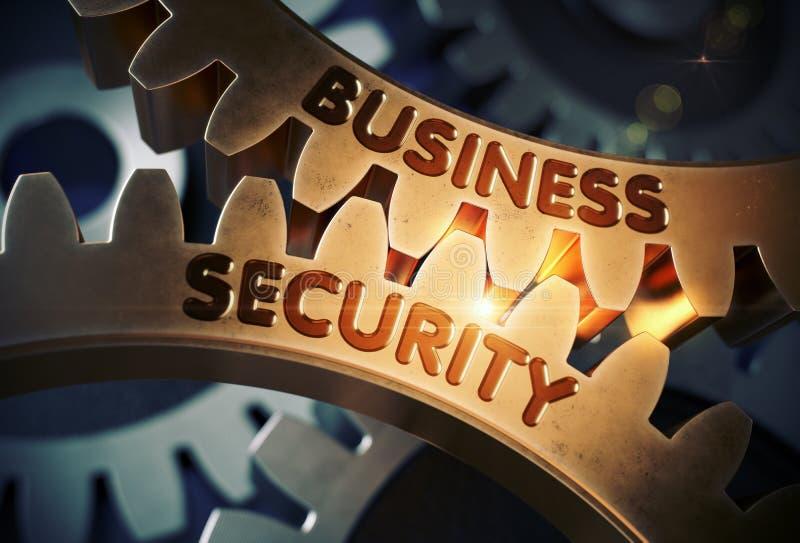 Επιχειρησιακή ασφάλεια στα χρυσά μεταλλικά εργαλεία τρισδιάστατη απεικόνιση ελεύθερη απεικόνιση δικαιώματος