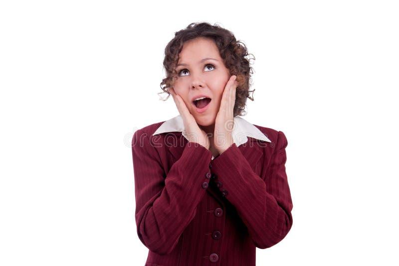 Επιχειρησιακή γυναίκα έκπληκτη. στοκ φωτογραφία με δικαίωμα ελεύθερης χρήσης