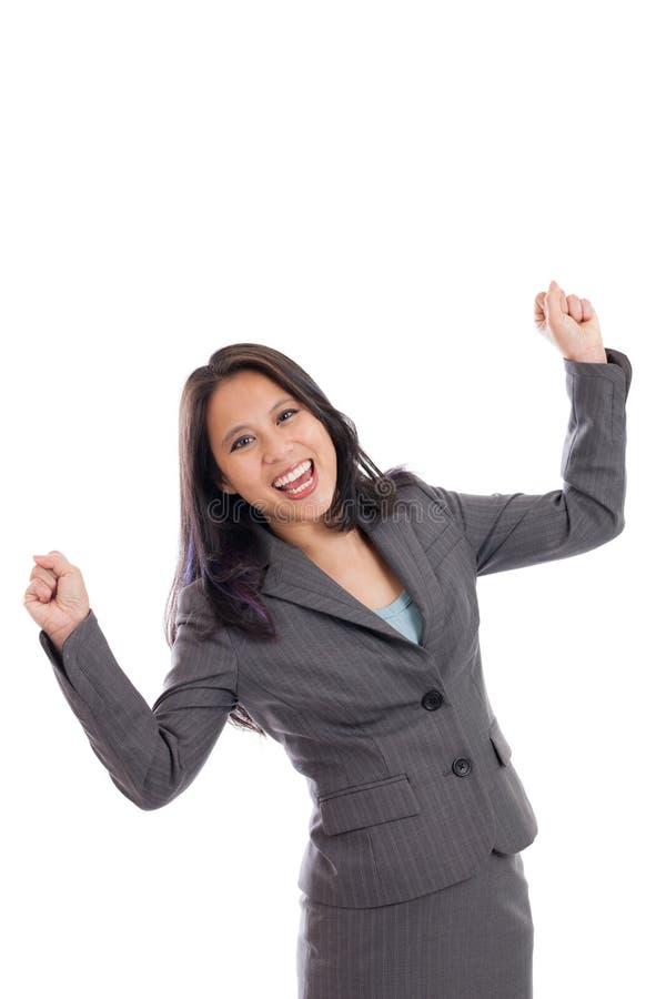 Επιχειρησιακή γυναίκα ενθαρρυντική στοκ φωτογραφίες με δικαίωμα ελεύθερης χρήσης
