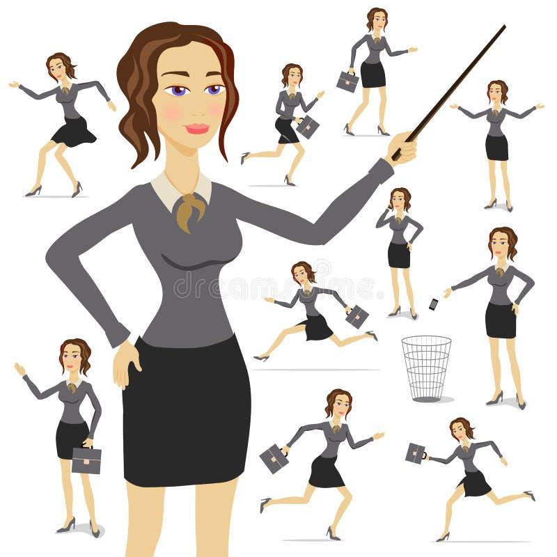 Επιχειρησιακή γυναίκα, επιχείρηση, απεικόνιση, κοστούμι, ενήλικος, θηλυκό, πρόσωπο, απεικόνιση αποθεμάτων