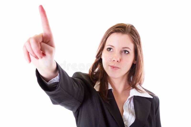 Επιχειρησιακή γυναίκα με την υπόδειξη του δάχτυλου στοκ φωτογραφία με δικαίωμα ελεύθερης χρήσης