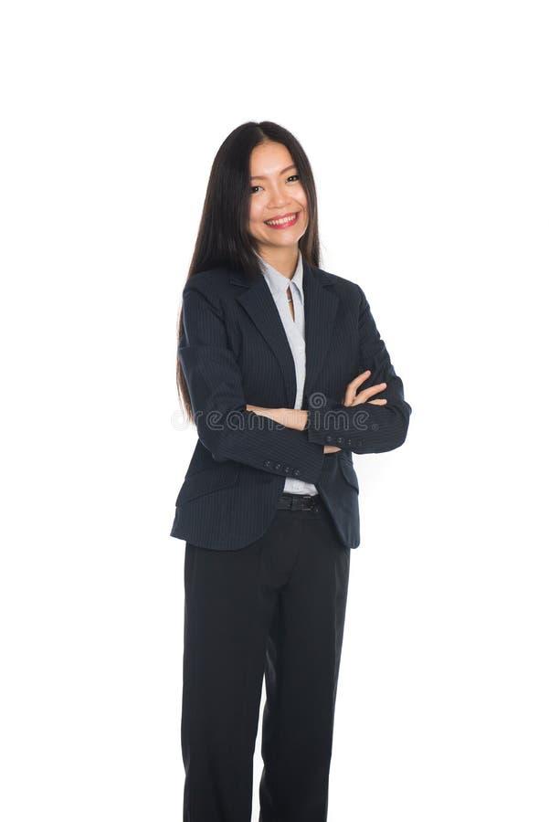 Επιχειρησιακή γυναίκα που στέκεται στο πλήρες μήκος στοκ εικόνα με δικαίωμα ελεύθερης χρήσης