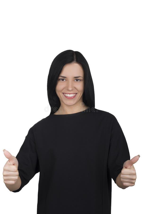 Επιχειρησιακή γυναίκα σε μια άσπρη ανασκόπηση στοκ φωτογραφίες