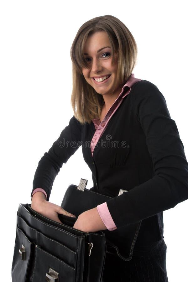 επιχειρησιακή γυναίκα χαρτοφυλάκων στοκ εικόνες
