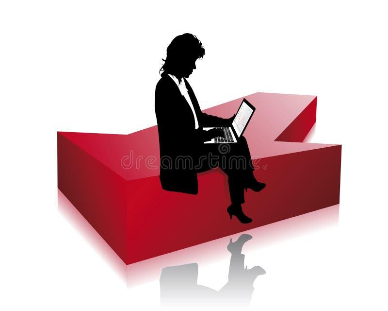 επιχειρησιακή γυναίκα διανυσματική απεικόνιση