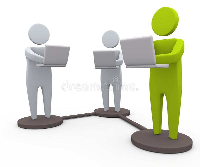 επιχειρησιακή δικτύωση απεικόνιση αποθεμάτων