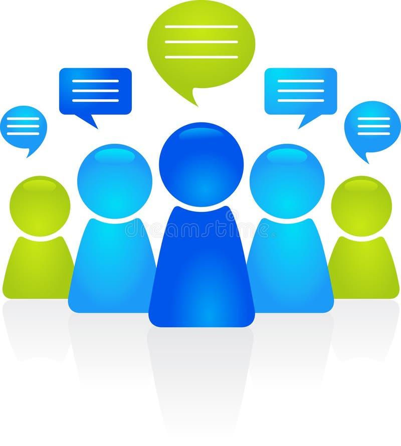 Επιχειρησιακή επικοινωνία διανυσματική απεικόνιση
