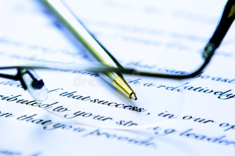 επιχειρησιακή επιστολή στοκ φωτογραφία