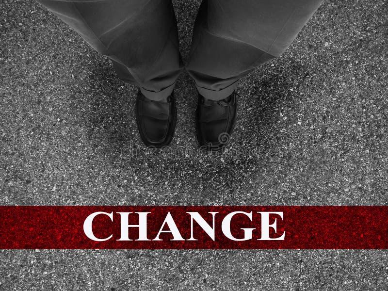 Επιχειρησιακή επιτυχία με την αλλαγή στοκ εικόνα