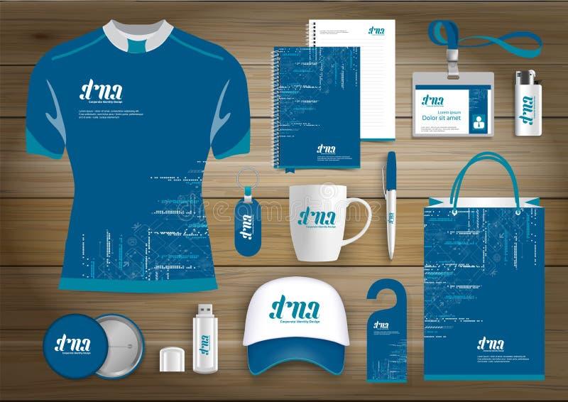 Επιχειρησιακή εταιρική ταυτότητα στοιχείων δώρων, διανυσματικό αφηρημένο σχέδιο αναμνηστικών χρώματος προωθητικό με τα στοιχεία o διανυσματική απεικόνιση