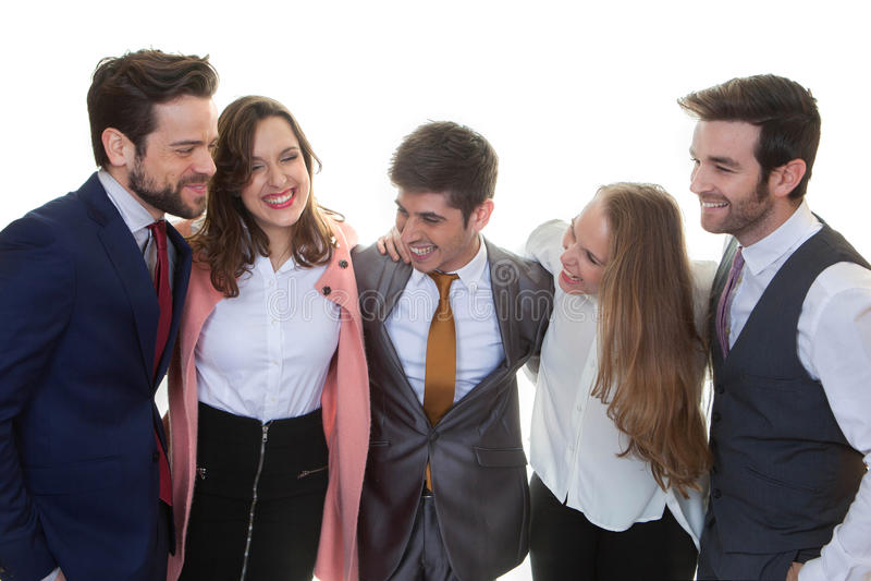 επιχειρησιακή ευτυχής ομάδα στοκ εικόνα με δικαίωμα ελεύθερης χρήσης